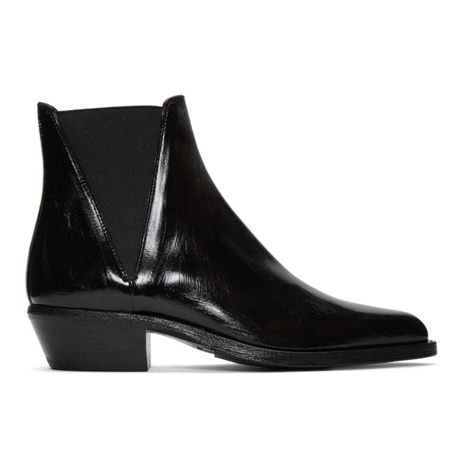 Photo: Saint Laurent Black Dakota Chelsea Boots