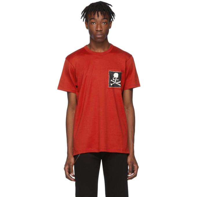 Photo: mastermind WORLD Red Boxy Logo Pocket T-Shirt