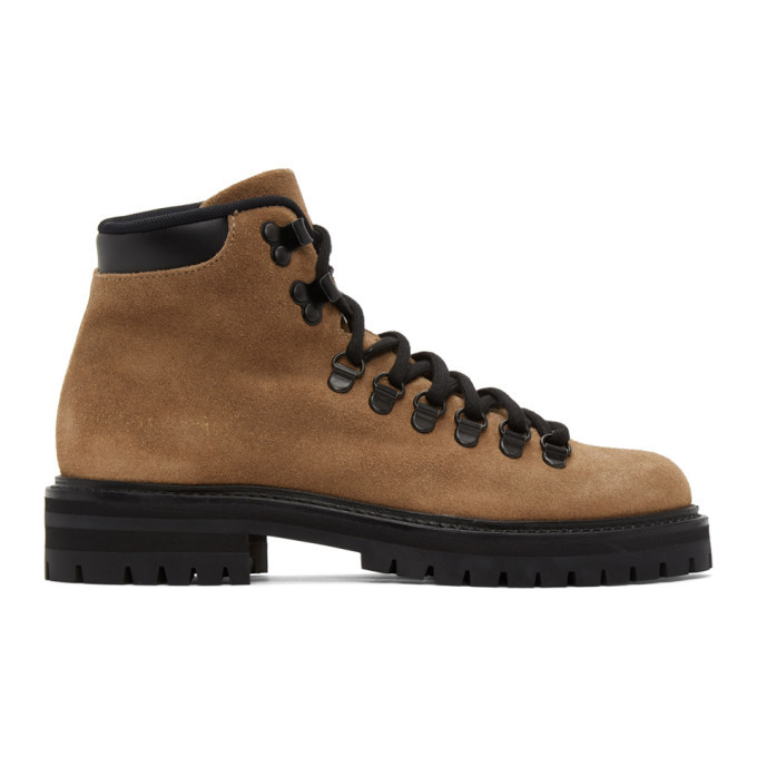 Photo: Common Projects Brown Suede Hiking Boots