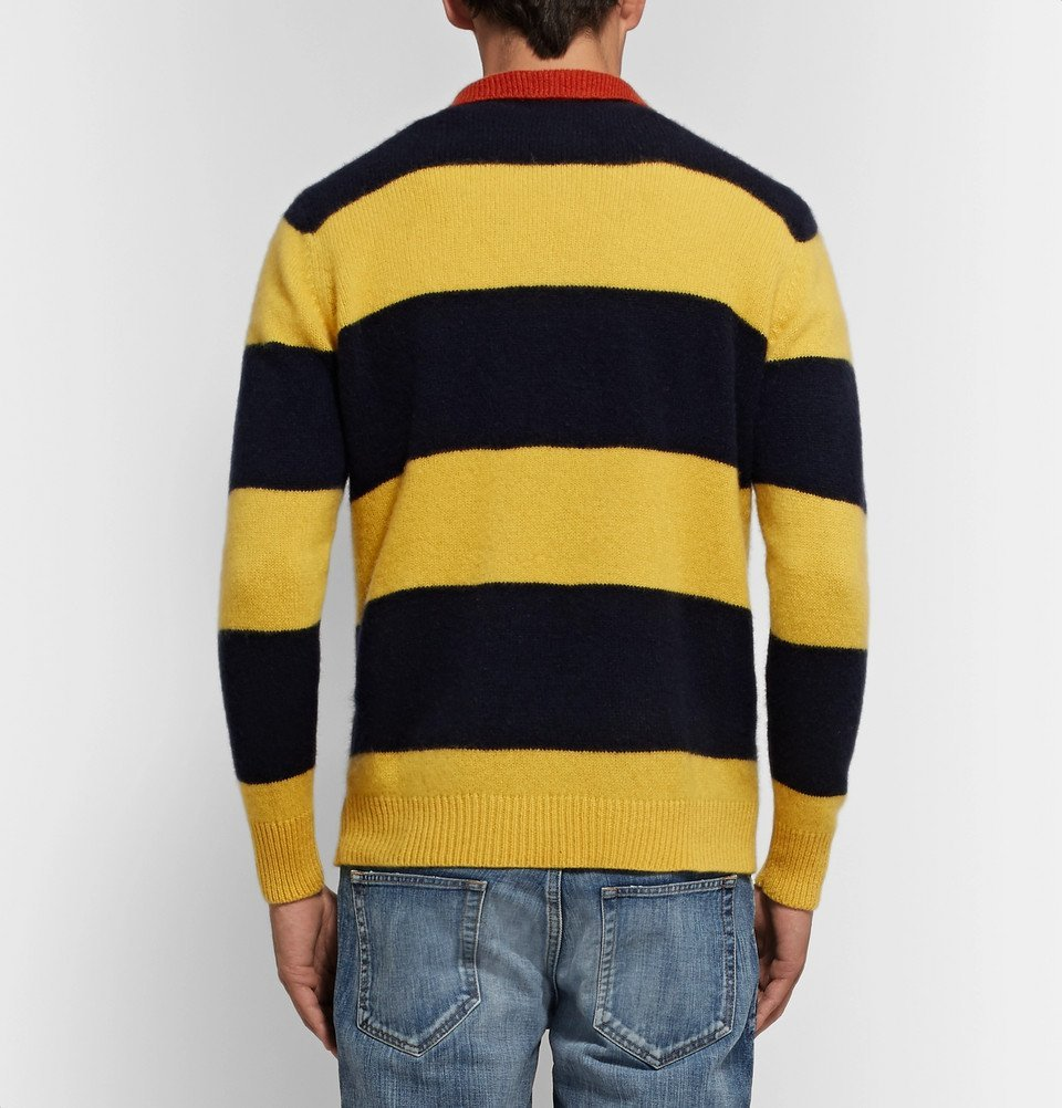 The Elder Statesman - Striped Cashmere Sweater - Yellow