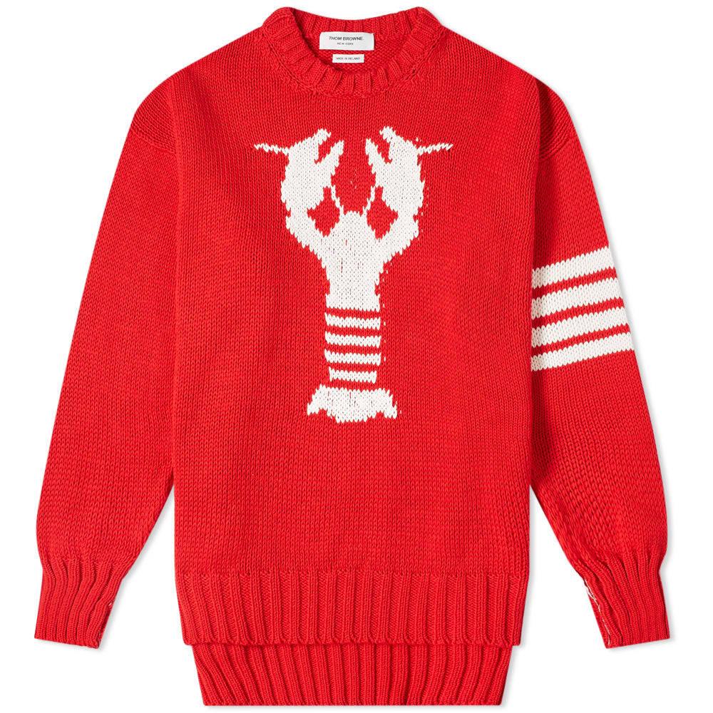 Photo: Thom Browne Lobster Intarsia Crew Knit