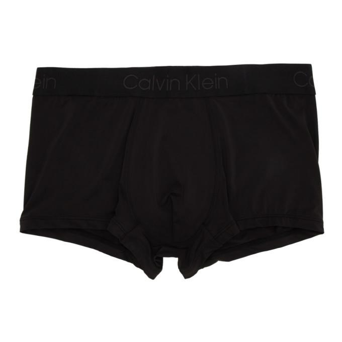 Photo: Calvin Klein Underwear Black Modulus Micro Low-Rise Boxer Briefs