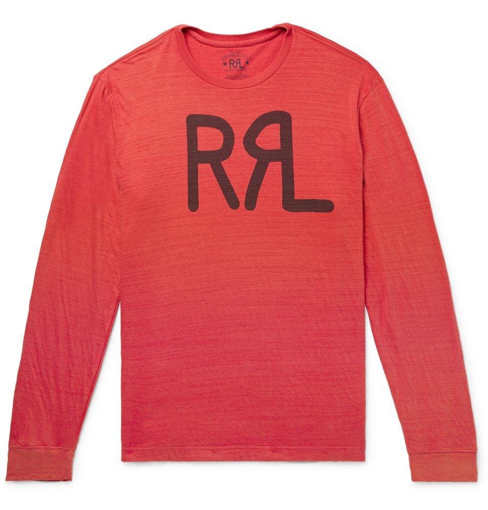 RRL - Logo-Print Slub Cotton-Jersey T-Shirt - Men - Red
