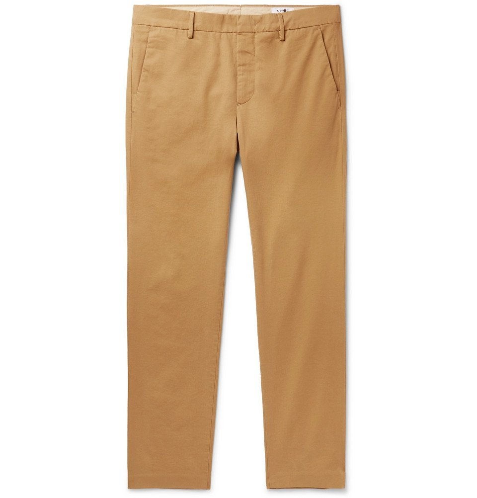 Photo: NN07 - Theo Tapered Cotton-Blend Chinos - Sand