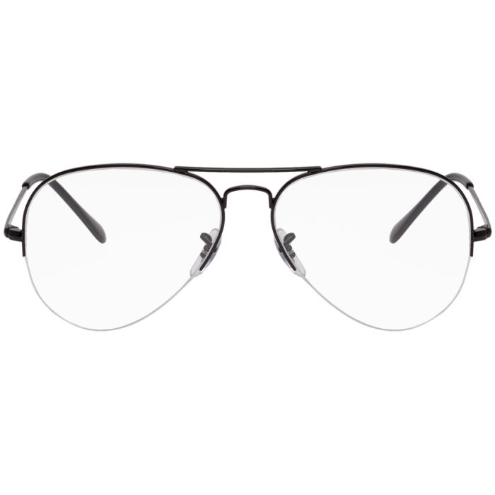Photo: Ray-Ban Black Gaze Aviator Glasses