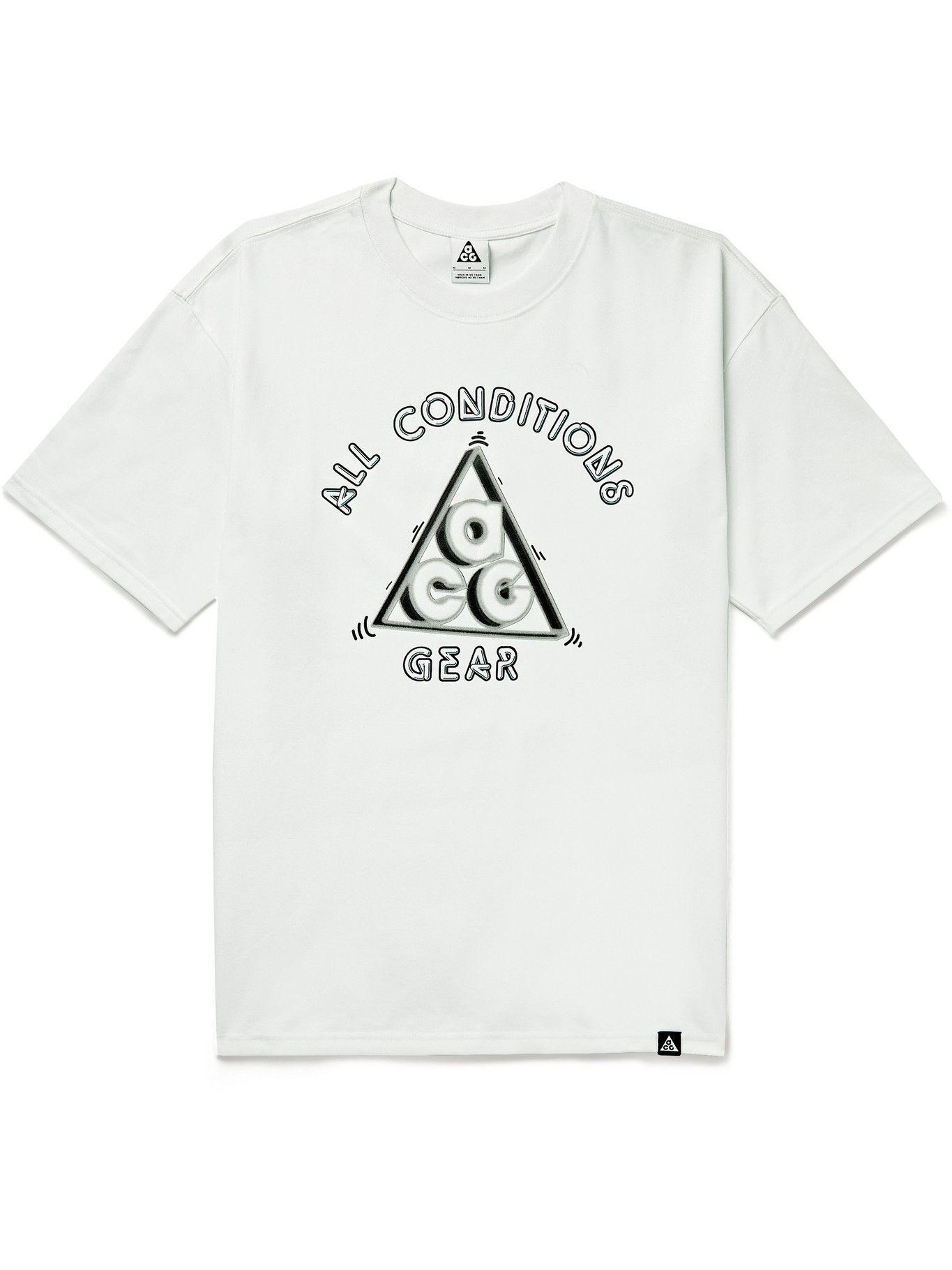 Photo: Nike - ACG Hang Loose Printed Jersey T-Shirt - White