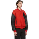 Raf Simons Red and Black American Bomber Jacket