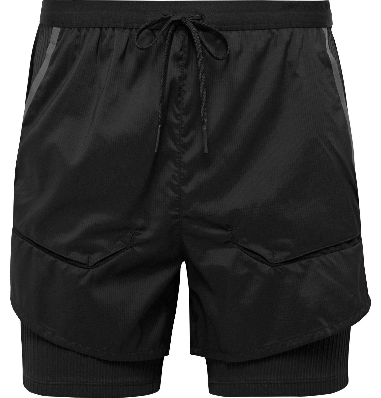 Photo: Nike Running - Tech Pack 2-in-1 Slim-Fit Ribbed Stretch-Jersey and Ripstop Shorts - Black