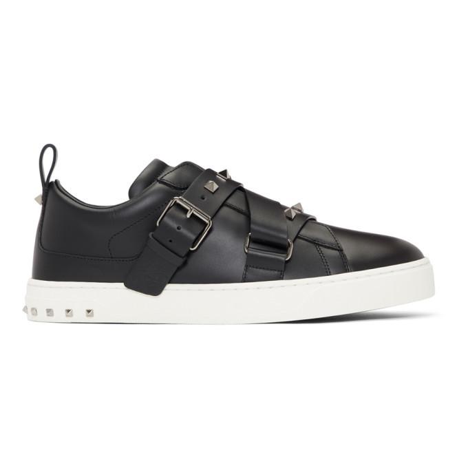 Photo: Valentino Black Valentino Garavani V-Punk Slip-On Sneakers