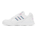 adidas Originals White and Pink A.R. Trainer Sneakers