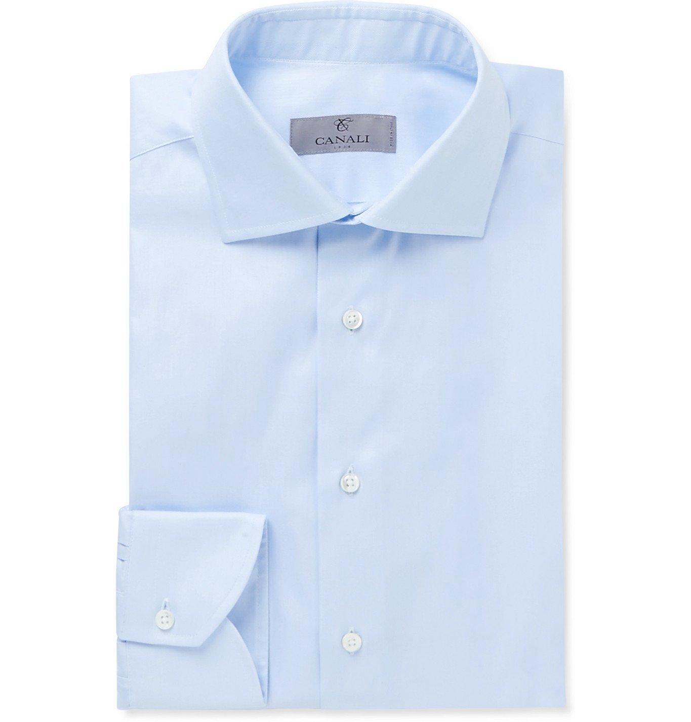 Photo: Canali - Herringbone Cotton Shirt - Unknown