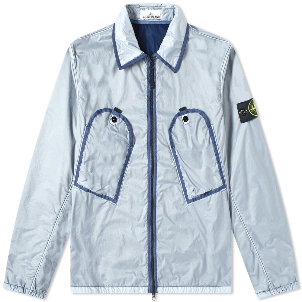 Stone Island Lamy Flock Pocket Zip Overshirt