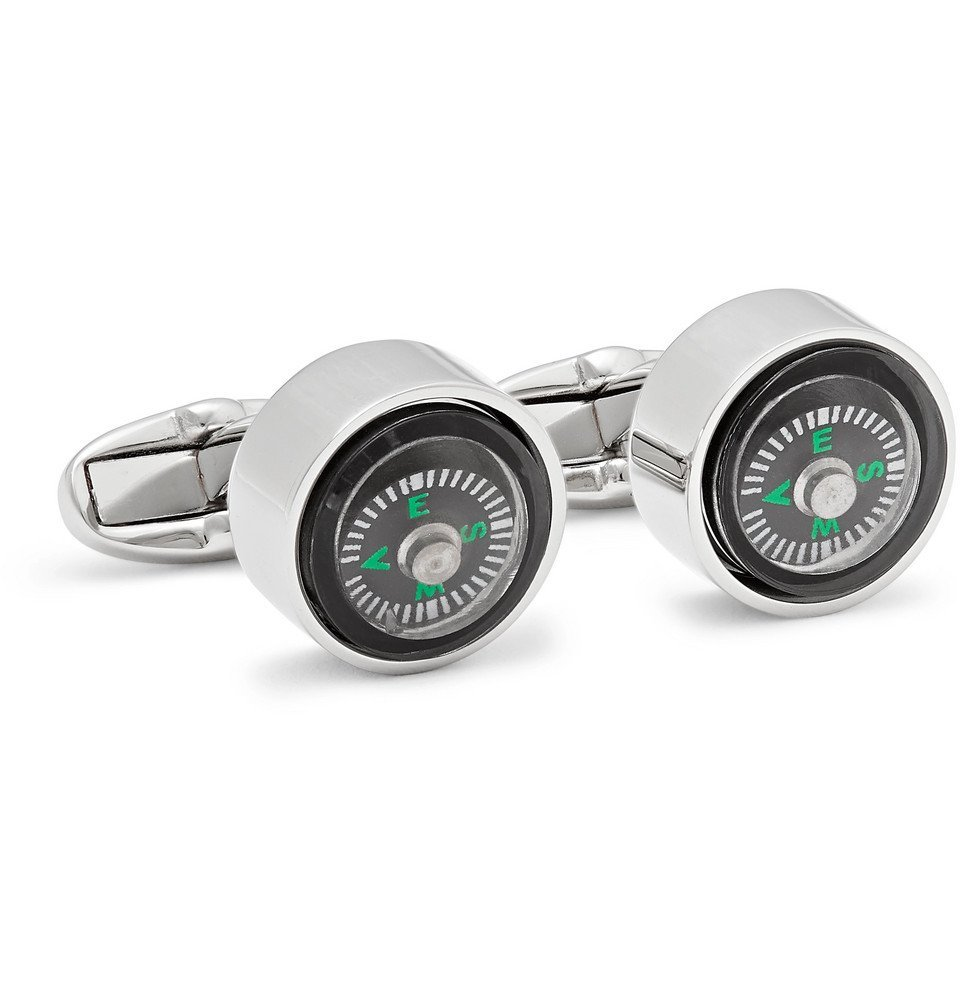 Photo: Paul Smith - Compass Silver-Tone Cufflinks - Black