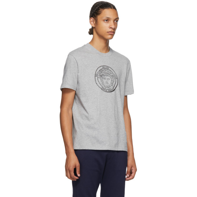 Versace Grey Medusa Taylor T-Shirt