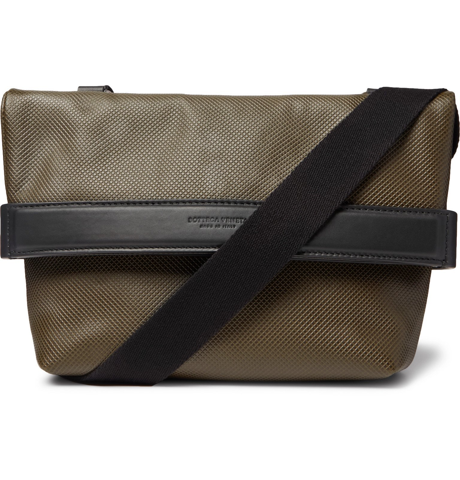 Photo: Bottega Veneta - Textured-Leather Messenger Bag - Green
