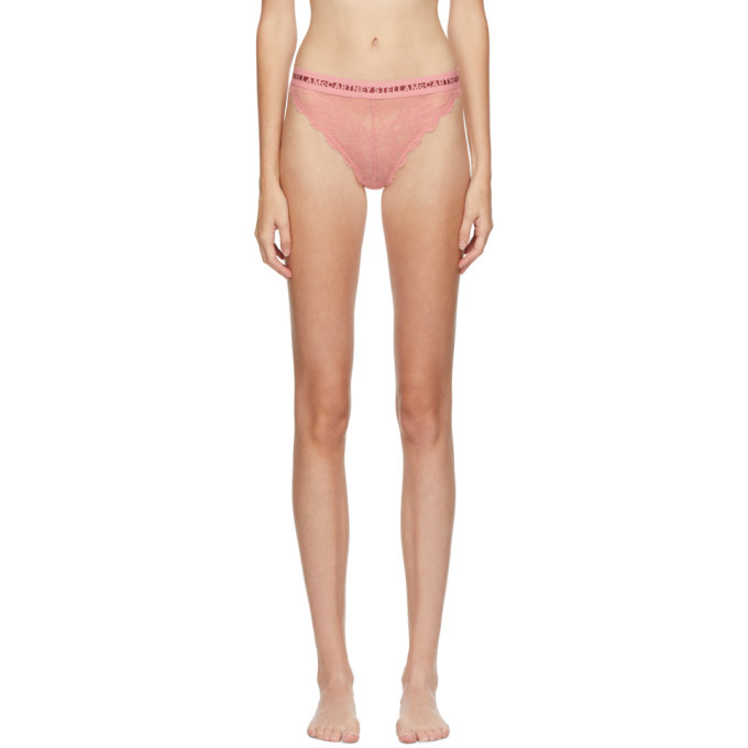 Stella McCartney Pink Whitney Popping High Leg Briefs