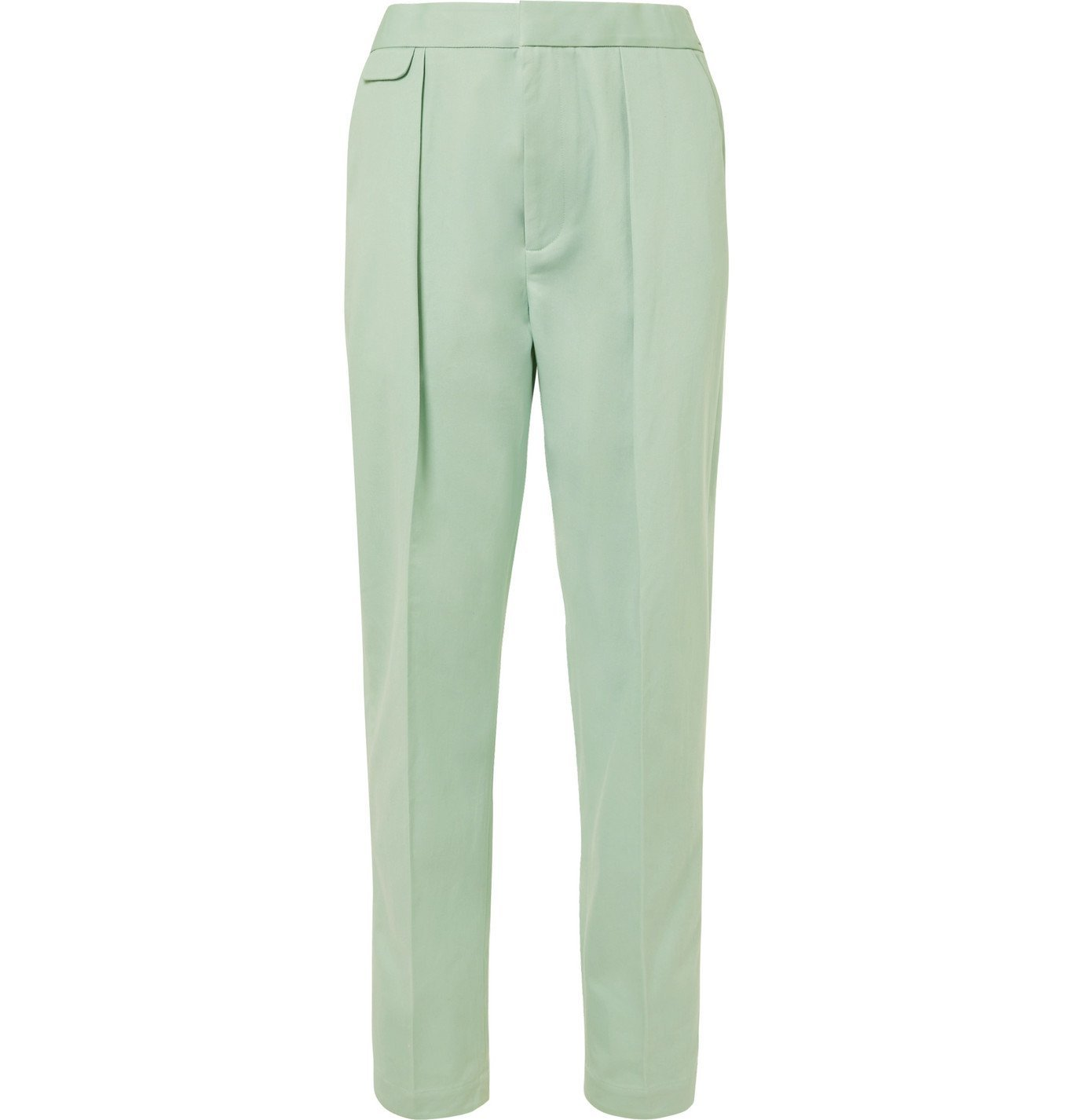 Photo: EQUIPMENT - The Original Tapered Pleated Lyocell and Cotton-Blend Twill Trousers - Green