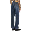Martine Rose Black Stripe Straight Jeans