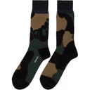 Sacai Green and Black Leopard Socks