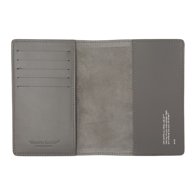 Off-White Grey Seasonal Passport Holder