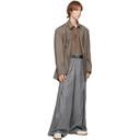 Martine Rose Brown Virgin Wool Oversized Twist Blazer