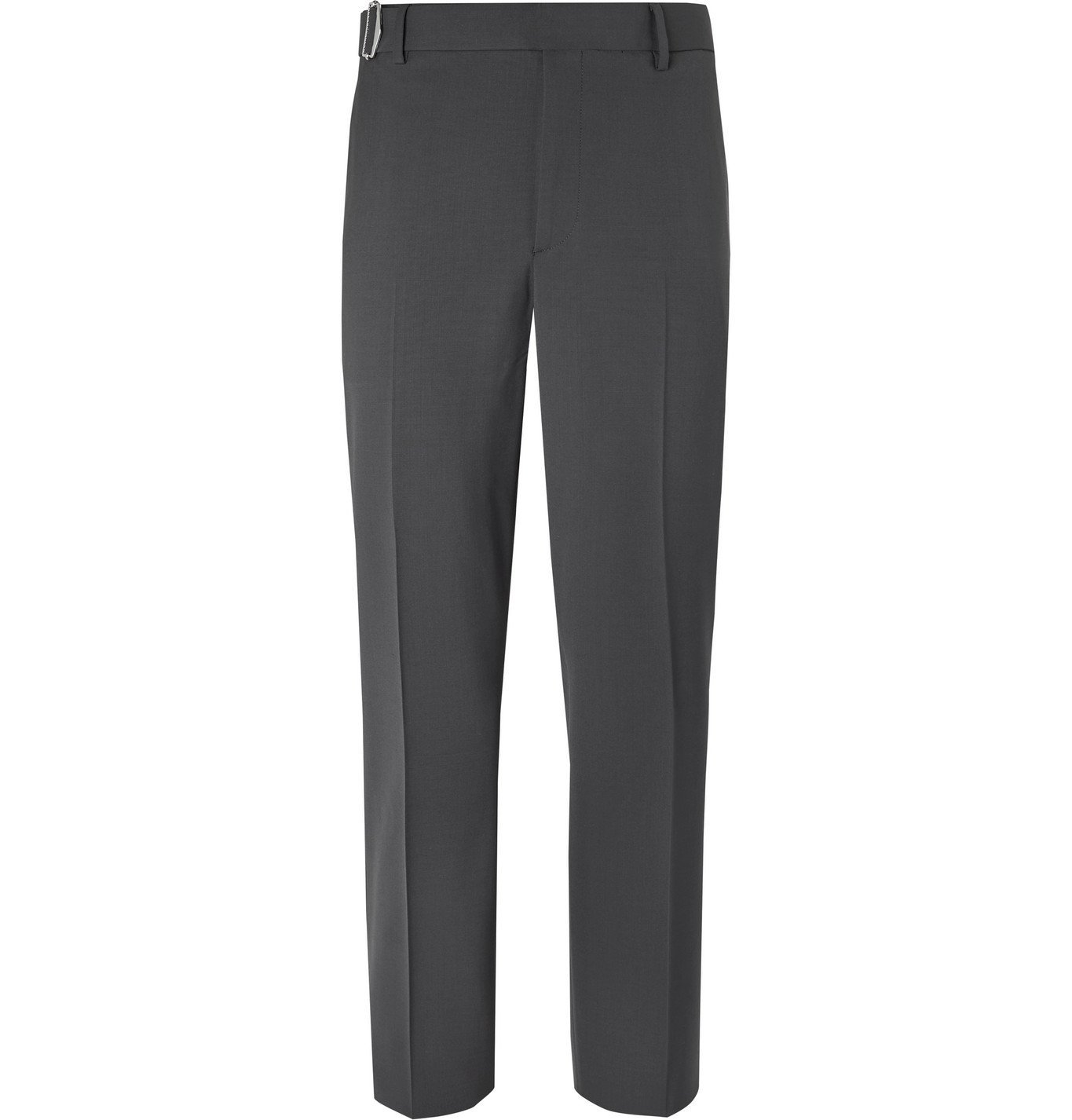 Photo: Valentino - Belted Woven Trousers - Gray