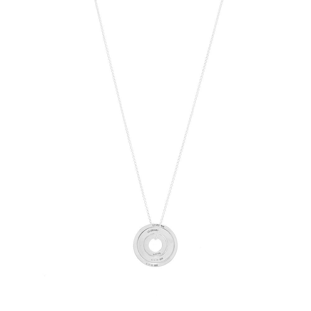 Photo: Le Gramme Circle Accumulation Slick Pendant Necklace
