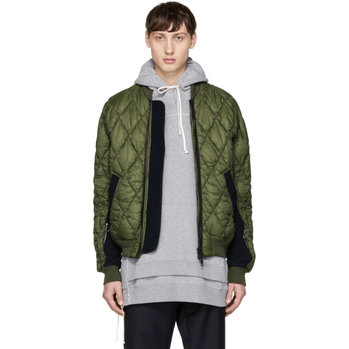 Photo: Tim Coppens Green Quilted MA-1 Bomber