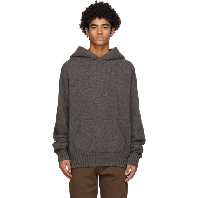 Photo: Fear of God Grey Brushed Knit Hoodie
