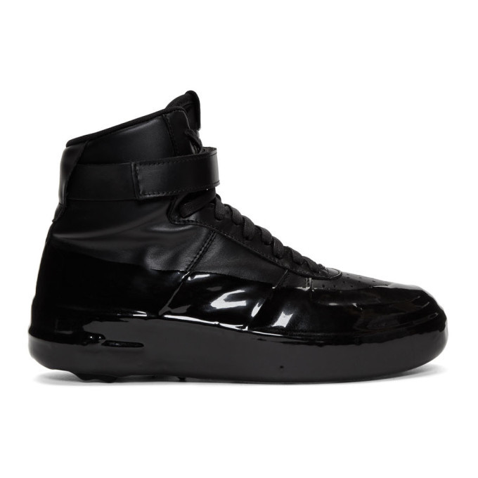 Photo: 424 Black Dipped High-Top Sneakers