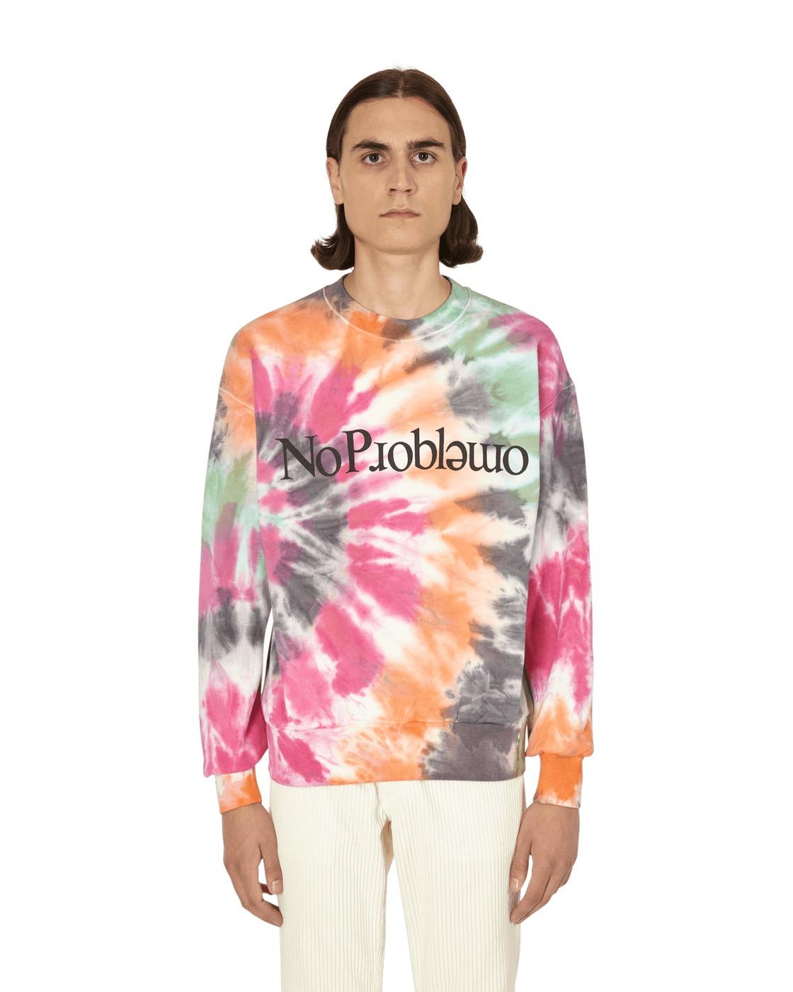 Aries No Problemo Tie Dye Crewneck Sweatshirt Multi
