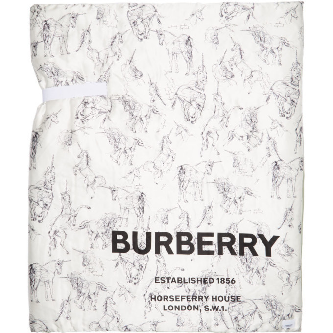 Photo: Burberry Multicolor Oversized Silk Padded Scarf