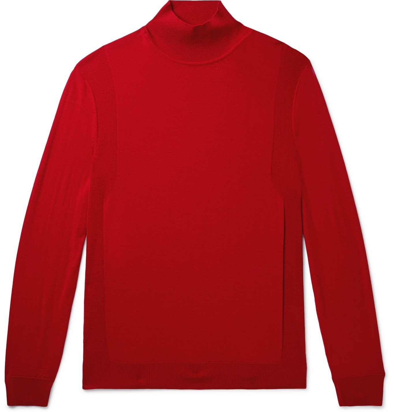 Dunhill - Slim-Fit Wool Rollneck Sweater - Red
