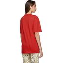 NAPA by Martine Rose Red Ocelot Logo T-Shirt