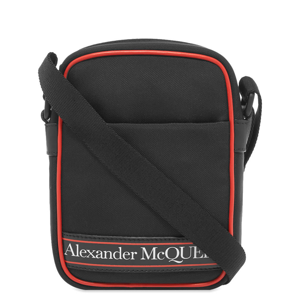 Photo: Alexander McQueen Tape Logo Mini Messenger Bag