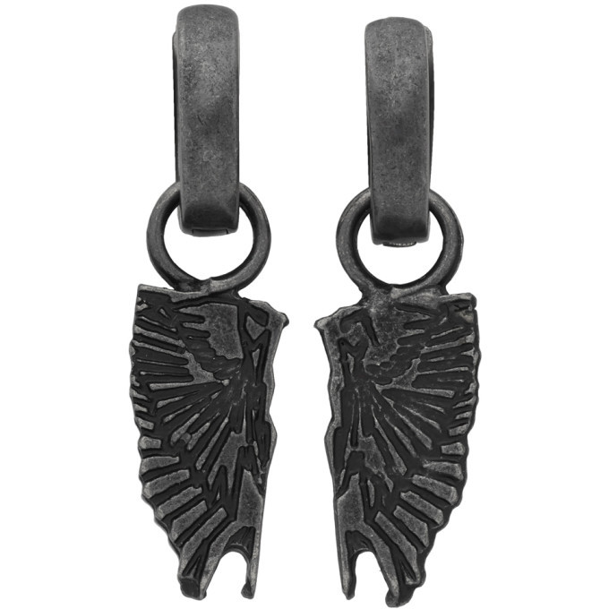 Photo: Marcelo Burlon County of Milan Gunmetal Wings Pendant Earrings