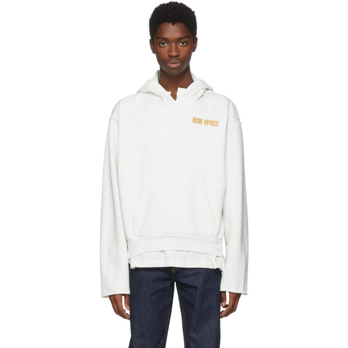 Photo: Off-White White Space On Deck Art Dad Hoodie