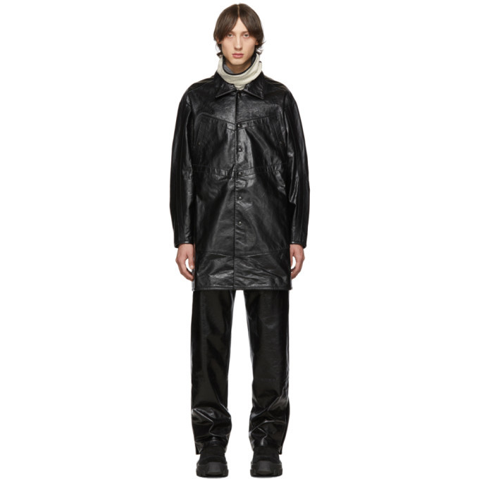 Photo: Kiko Kostadinov Black Leather Preston Jacket