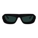 Martine Rose Black Visor Frame Sunglasses