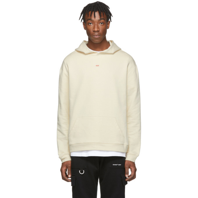 Photo: 424 SSENSE Exclusive Off-White Layering Hoodie