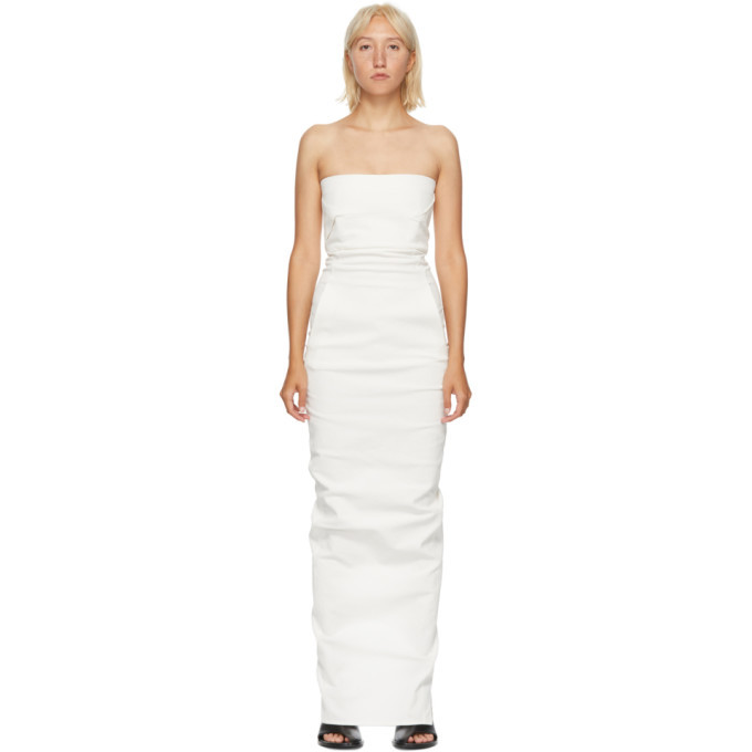 Photo: Rick Owens White Bustier Gown Dress
