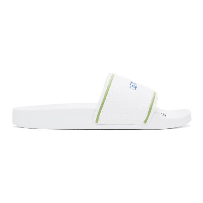 Photo: Off-White White Towel Slides