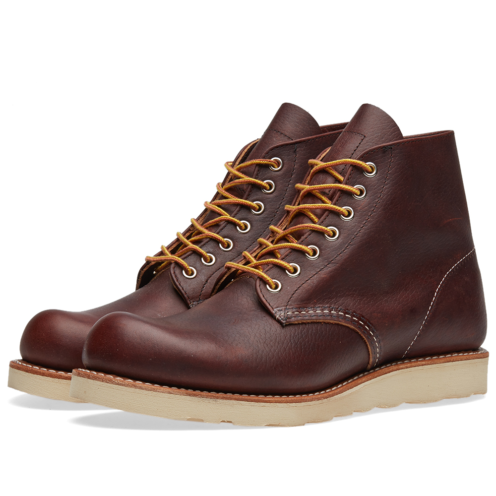 "Photo: Red Wing 8196 Heritage Work 6"" Round Toe Boot Brown"