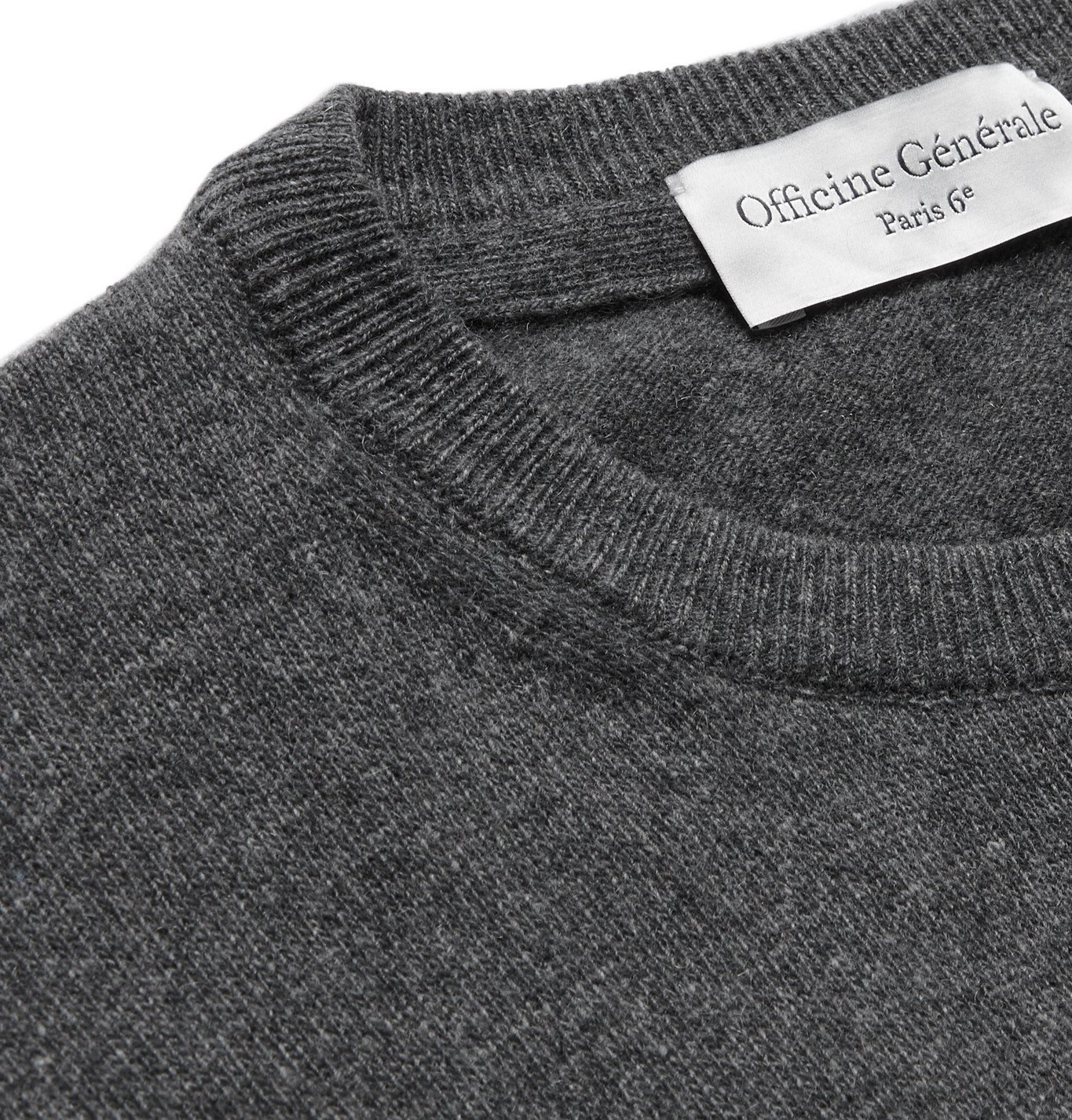 Officine Generale - Nina Mélange Cashmere Sweater - Gray