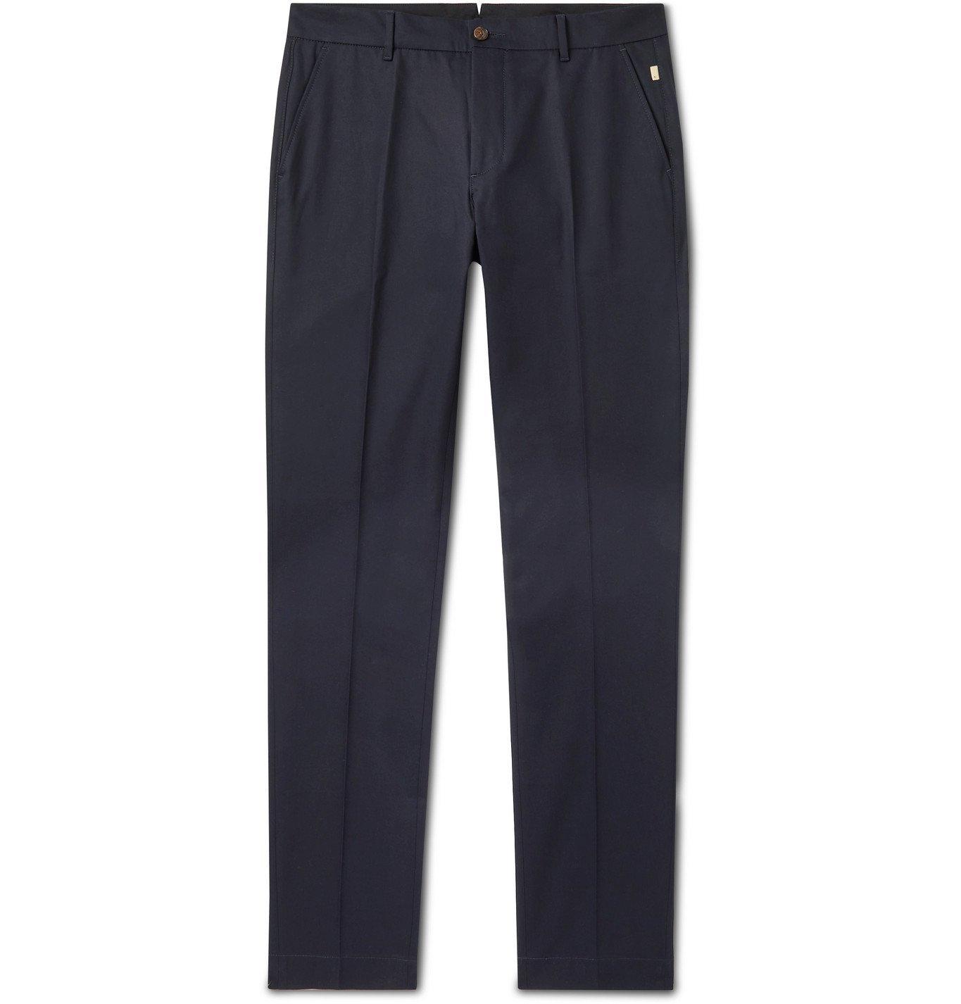 Photo: Bellerose - Porths Slim-Fit Cotton-Twill Chinos - Blue