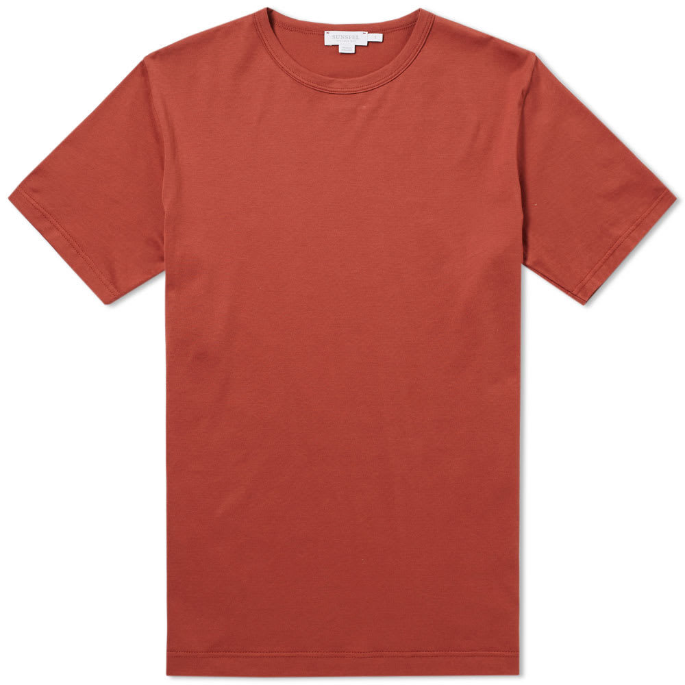 Sunspel Classic Crew Neck Tee Red