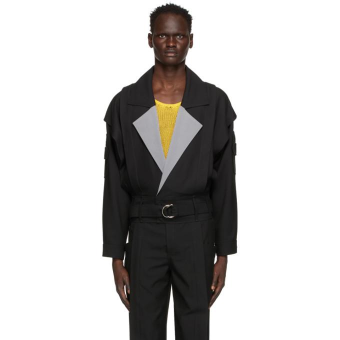 Photo: Situationist Black Double Arrow Pocket Jacket