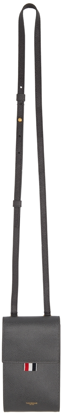 Photo: Thom Browne Grey Strap Phone Holder Pouch