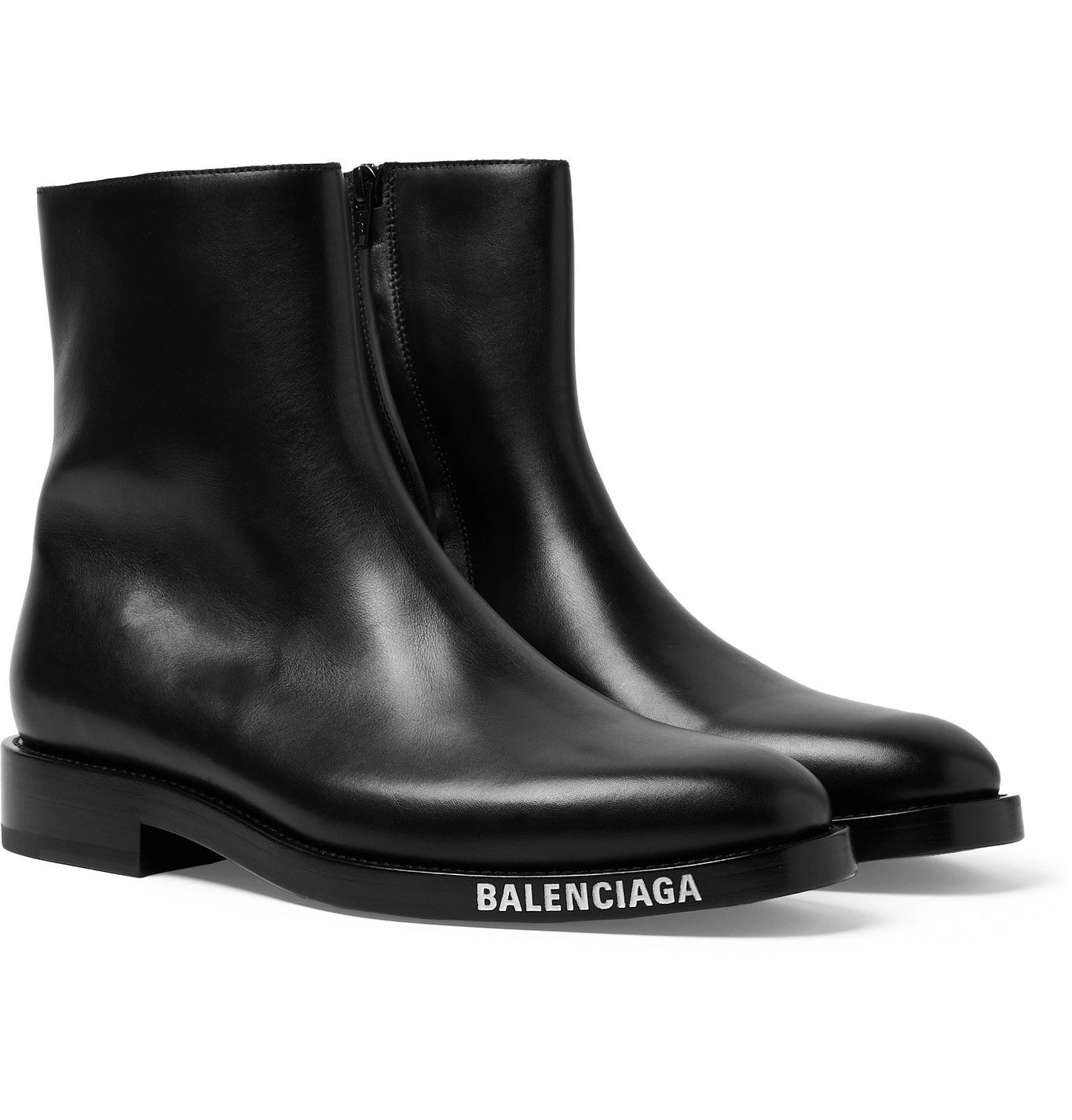 Photo: Balenciaga - Leather Boots - Black