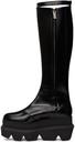 Sacai Black Long Platform Boots